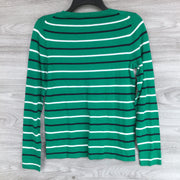 J.Crew Multicolor Stripe Crewneck Sweater
