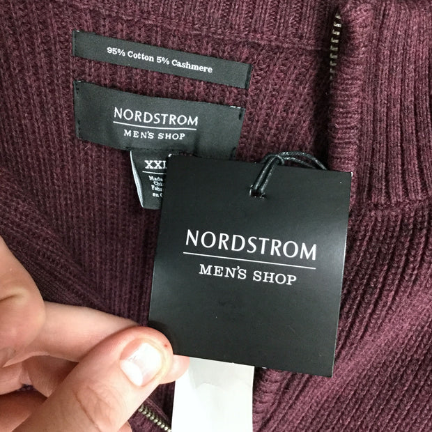 Nordstrom Men's Shop Ribbed Quarter Zip Sweater