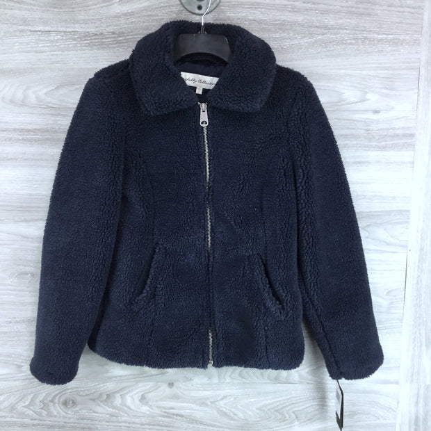 Sebby Collective Faux Shearling Zip Teddy Jacket