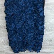 Eliza J Ruched Lace Body Con Dress