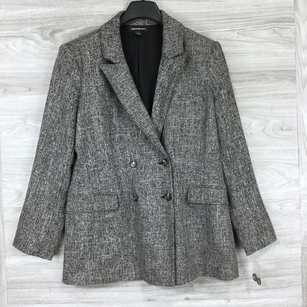 Something Navy Stretch Tweed Blazer