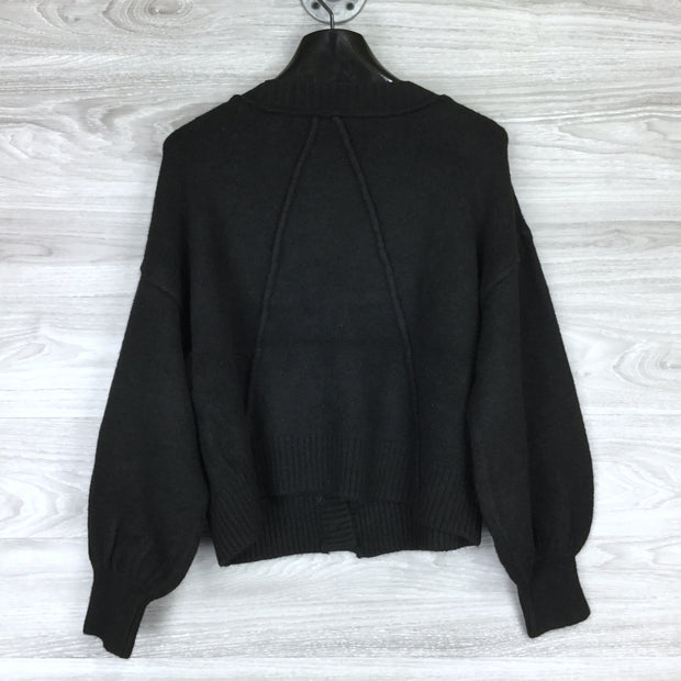 Topshop Button Up Crop Top Sweater