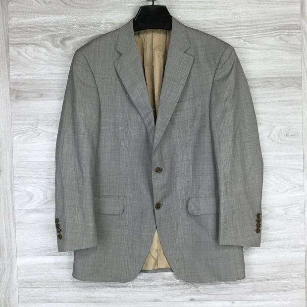 Peter Millar Sharkskin Wool 2 Button Suit Jacket