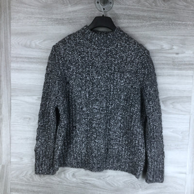Topshop Vertical Cable Crew Sweater