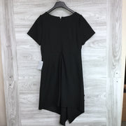 Sharagano Short Sleeve Scoop Neck Drape Dress