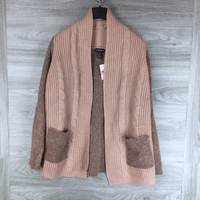 CENY Marled & Cable Knit Cardigan