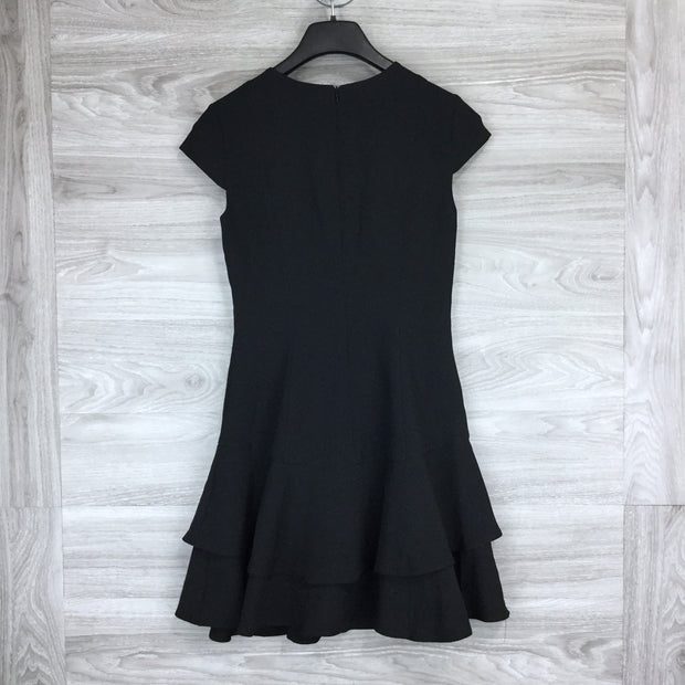 Eliza J Stretch Ruffle Crepe Mini Dress