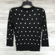 Halogen Black-Ivory Dot Sweater