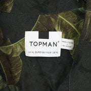 Topman Black Palm Revere Shirt