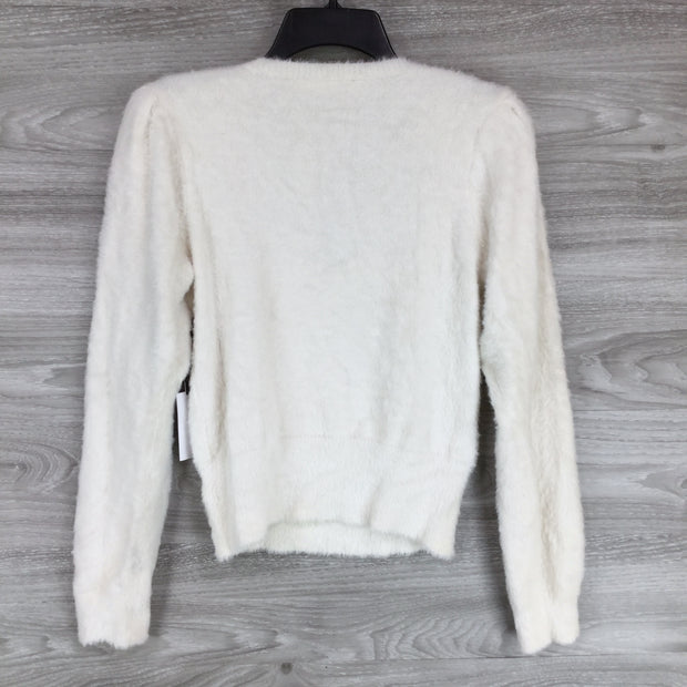 Astr The Brand Scoop Neck Fuzzy Sweater