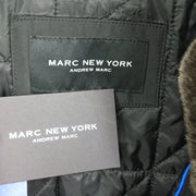 Andrew Marc Glynn Faux Fur Collar Rain Jacket