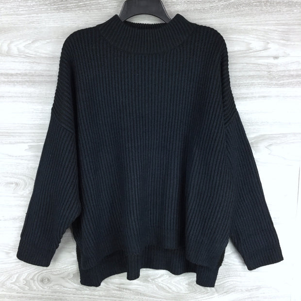 Topshop Funnel Neck Ribbed Sweater