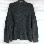 Topshop Charcoal Grey Knitted Boucle Longline Sweater