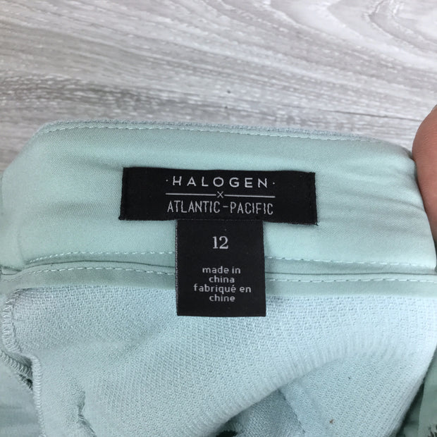 Halogen X Atlantic-Pacific Button Detail Kick Flair Pants