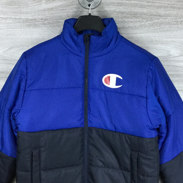 Champion Blue Stadium Puffer Jacket