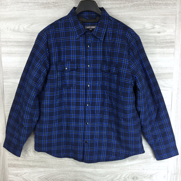 Slate & Stone Plaid Wool Varsity Jacket