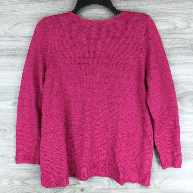 Nic + Zoe RIBBED LACE-UP SWEATER