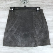 BlankNYC Leather Sued Front Pocket Skirt