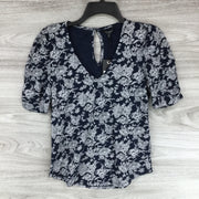 Lucky Brand Floral V Neck Top