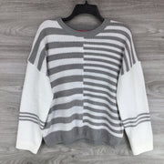 Catherine Malandrino Colorblock Stripe Knit Sweater
