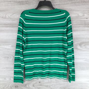 J. Crew Multicolor Stripe Crew Neck Sweater