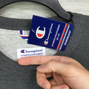 Champion Grey Embroidered Logo Sweater