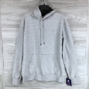 Champion Mens Oxford Grey Fleece Hoodie