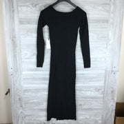 Leith Square Neck Long Sleeve Sweater Dress