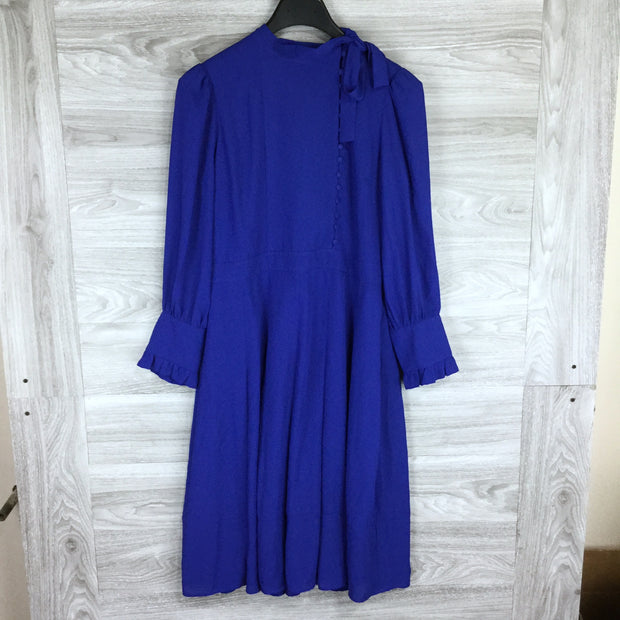 Chelsea28 Button Tie Neck Dress