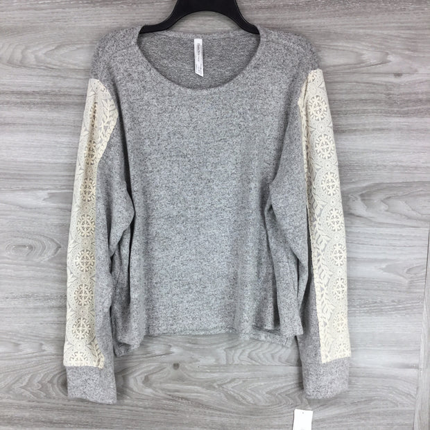 Flora Nikrooz Harbor Cozy Grey Top