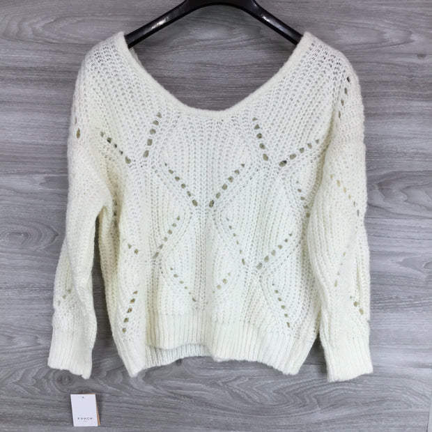 Frnch Scoop Neck Knit Sweater