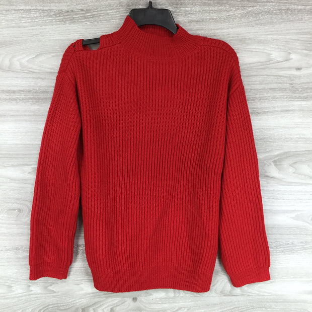 ASTR Cutout Turtleneck Sweater