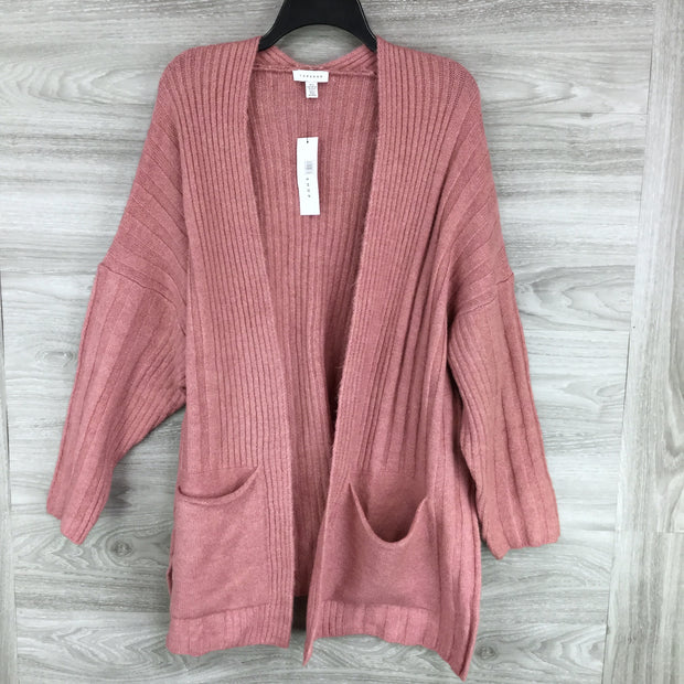 Topshop Striped Knit Open Cardigan