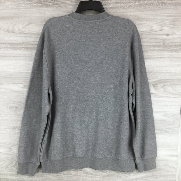 Calvin Klein Heathered Crew Neck Emblem Sweater