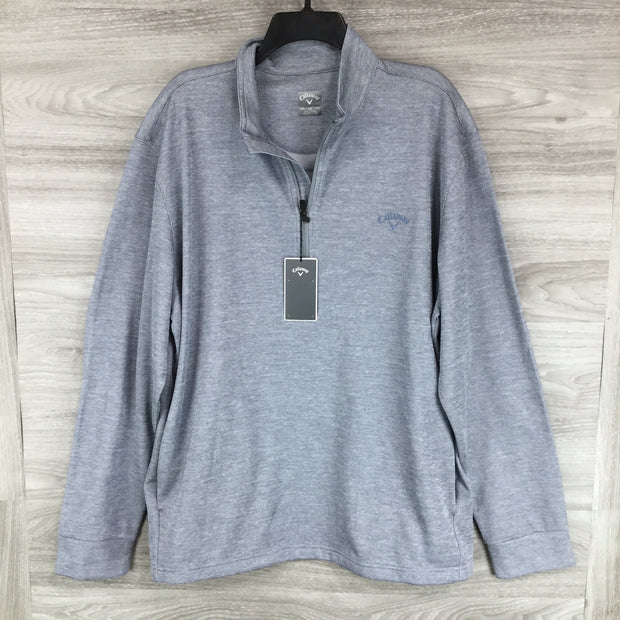 Callaway Heathered Gold Zip Up Sweater