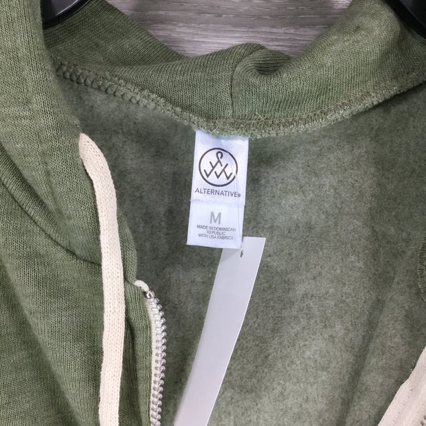 Alternative Apparel Green Rocky Eco-Fleece Zip Hoodie