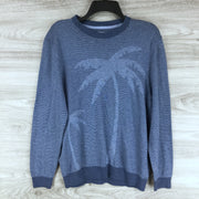Tommy Bahama Palm Pattern Crew Neck Sweater