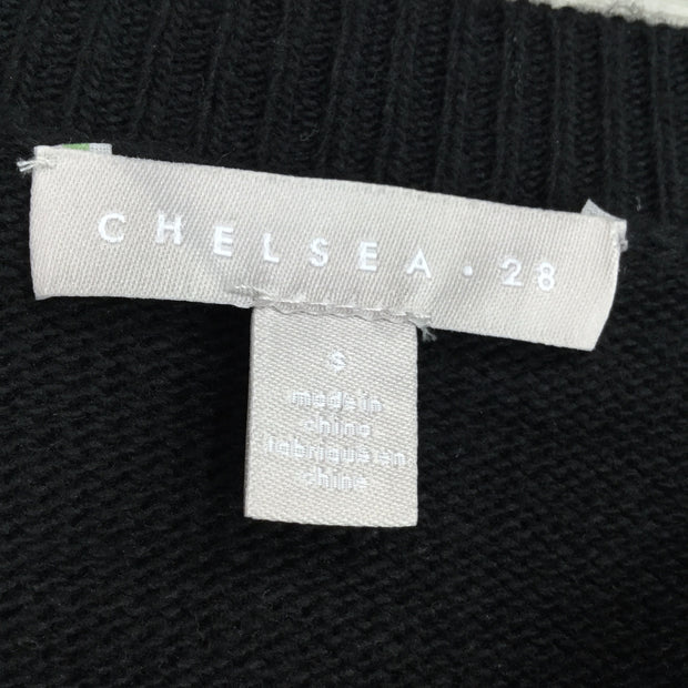 Chelsea28 Black Crew Neck Knit Sweater