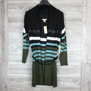 Vertigo Paris Black Striped Cardigan Sweater