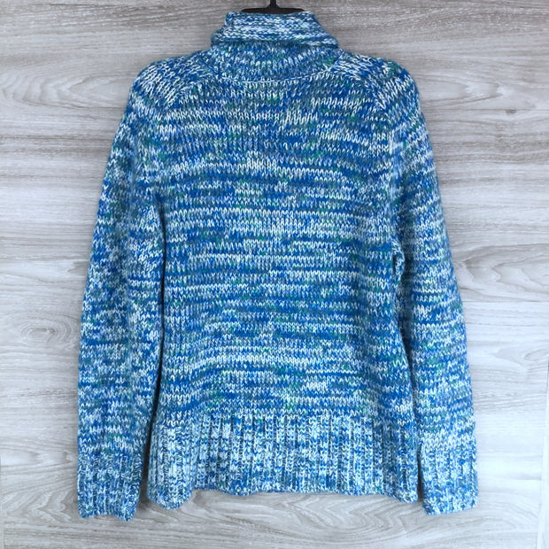 LOU & GREY Findley Space Dye Turtleneck Sweater