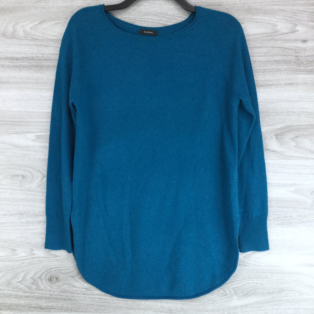 Halogen Teal Boatneck Wool & Cashmere Tunic Top