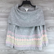 Caslon Fair Isle Convertible Cowl Neck Sweater