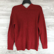 Leith Stretchy V Neck Sweater