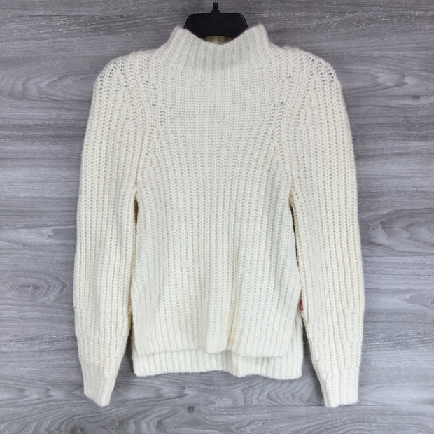 Leith Ivory Pristine Knit Cowl Neck Sweater