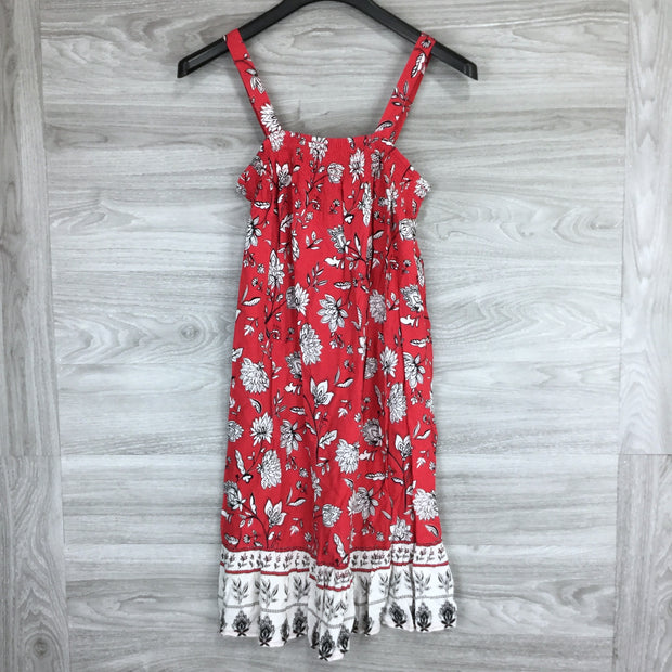 Beach Lunch Lounge Printed Sleeveless Trapeze Dress