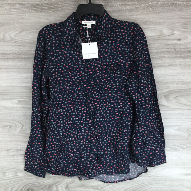 Beach Lunch Lounge Alanna Heart Button Up Shirt