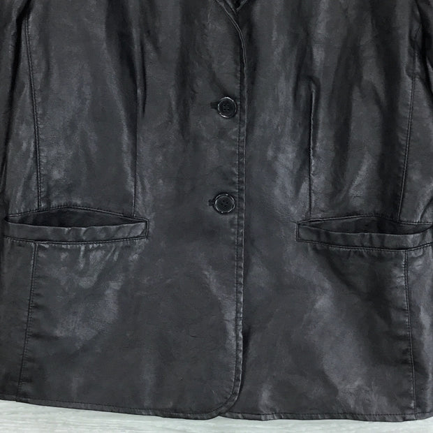 Bagatelle Garment Dyed Faux Leather Jacket