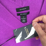 Halogen V-Neck Purple Sweater