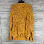 Lou & Grey Textured V Neck Mustard Cardigan