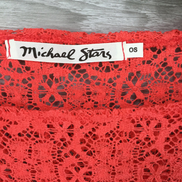 Michael Stars Lace Boatneck Crop Blouse